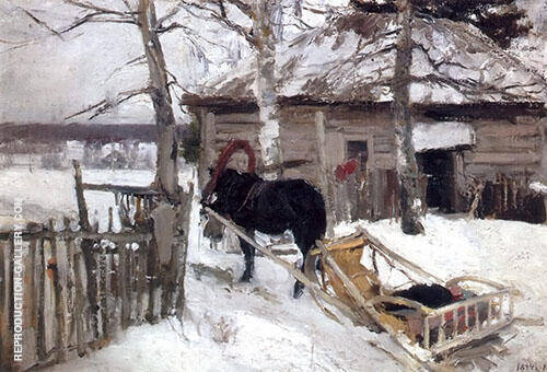 Winter By Konstantin Korovin