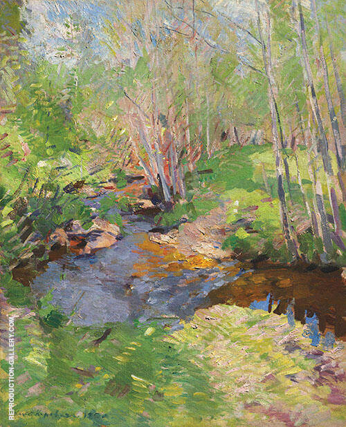 Woodland Brook By Konstantin Korovin