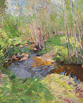 Woodland Brook By Konstantin Korovin