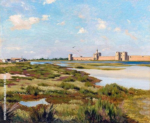Aigues Mortes 1867 By Frederic Bazille