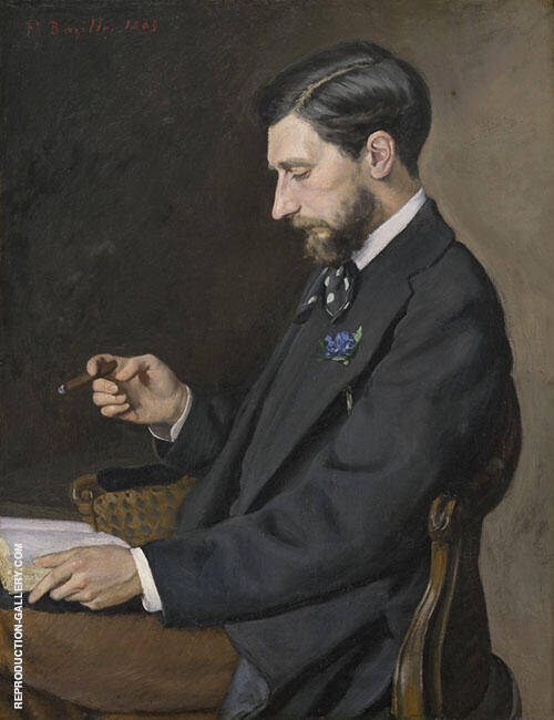 Edmond Maitre 1869 By Frederic Bazille