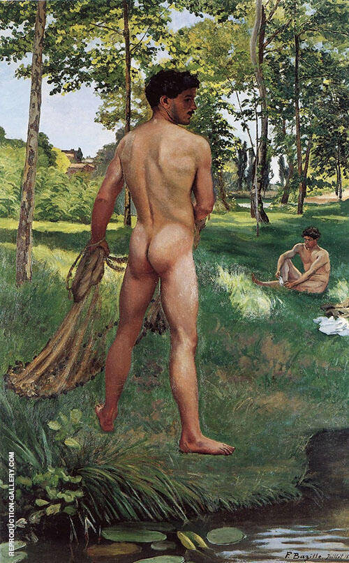 Fisherman with a Net 1868 By Frederic Bazille