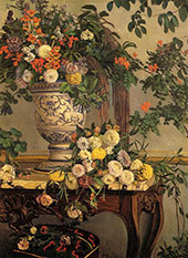 Flowers 1868 By Frederic Bazille