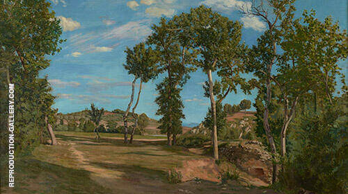 Landscape on The Bank of The Lez 1870 By Frederic Bazille