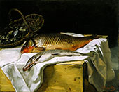 Still Life with Fish c1866 By Frederic Bazille