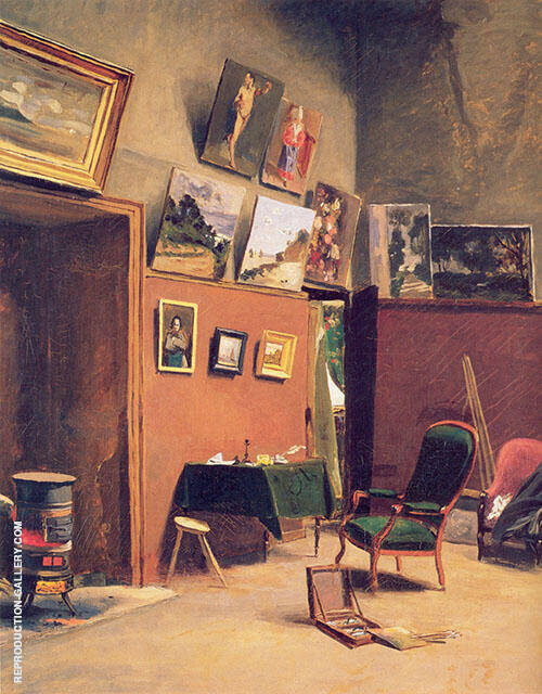 Sutdio in The rue de Furstenberg 1865 By Frederic Bazille