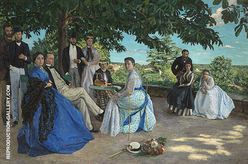 The Family Gathering 1867 By Frederic Bazille