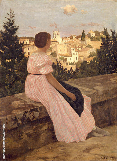 The Pink Dress 1864 (La Robe Rose) By Frederic Bazille
