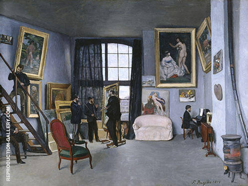 The Studio on The Rue La Condamine 1869 By Frederic Bazille