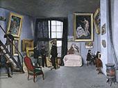 The Studio on The Rue La Condamine 1869 By Frederic Bazille