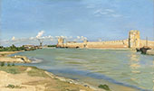 The Western Ramparts at Aigues Mortes 1867 By Frederic Bazille