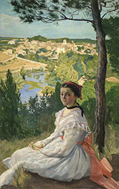 View of The Village 1868 By Frederic Bazille