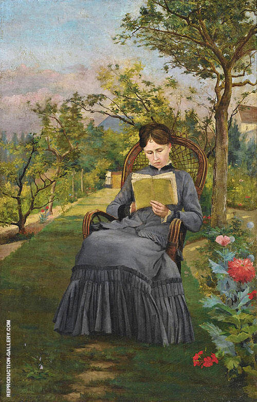 Reading in The Park of Meric By Frederic Bazille