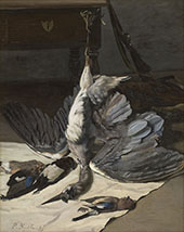 Still Life with Heron 1867 By Frederic Bazille
