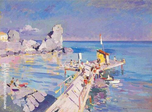 A Pier in Gurzuf 1917 By Gustave Loiseau