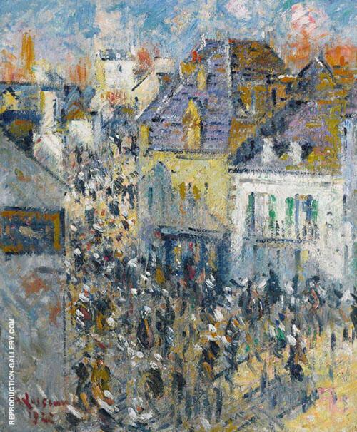 Aven Bridge Market Day By Gustave Loiseau