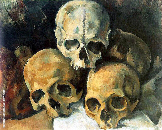 Pyramid of Skulls c1901 By Paul Cezanne