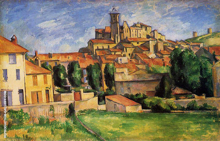 View of Gardanne By Paul Cezanne