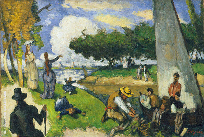 The Fishermen (Fantastic Scene) 1875 By Paul Cezanne
