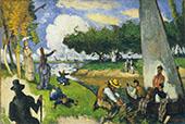 The Fishermen (Fantastic Scene) 1875 By Paul Cezanne