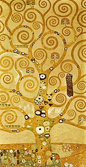 Tree of Life Stoclet Frieze (detail) By Gustav Klimt