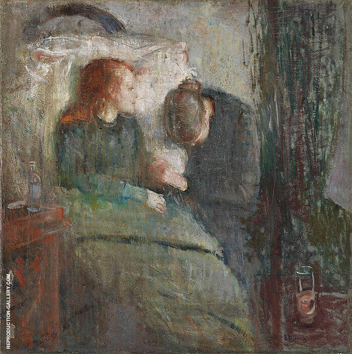 The Sick Child c1885 (Original Version) By Edvard Munch