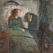The Sick Child c1885 (Original Version) By Edvard Munch
