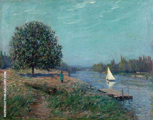Banks of The River By Gustave Loiseau