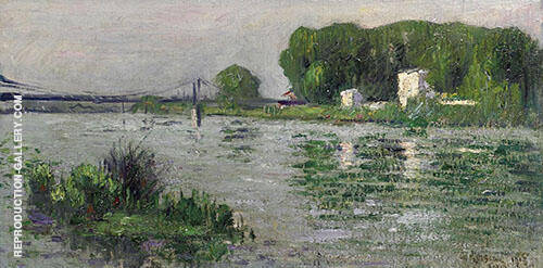 Banks of The Seine at Triel By Gustave Loiseau