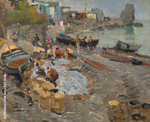 Fishing Boats Gurzuf 1911 By Gustave Loiseau