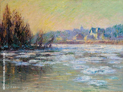 Ice on The Oise By Gustave Loiseau