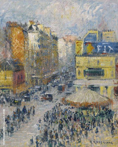 La Rue du Cligancourt Paris 1924 By Gustave Loiseau