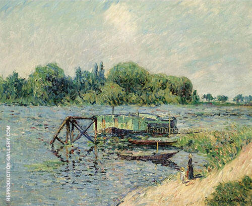 Laundry on The Seine at Herblay By Gustave Loiseau