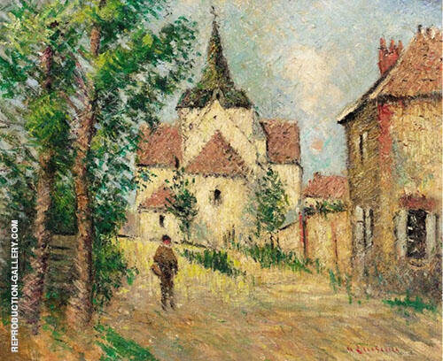 Le Village Anime Painting By Gustave Loiseau - Reproduction Gallery