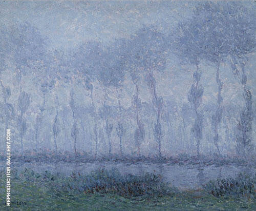 Mist on The Eure Saint Cyr c1900 Painting By Gustave Loiseau