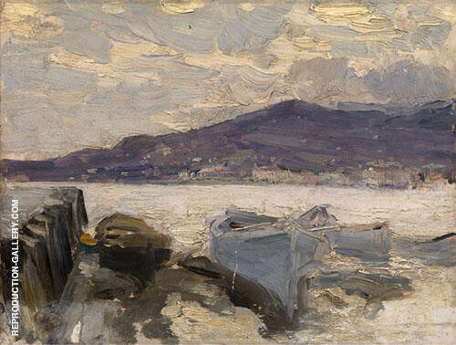Moored Boats Arkhangelsk By Gustave Loiseau