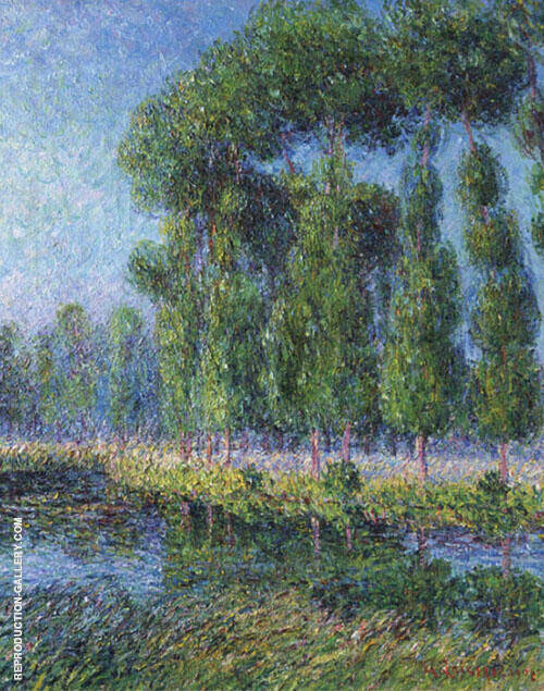 Poplars on The Banks of The Eure 1902 Painting By Gustave Loiseau
