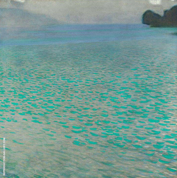 On Lake Attersee 1900 By Gustav Klimt