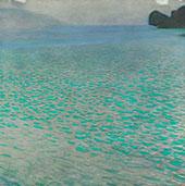 On Lake Attersee 1900 By Gustav Klimt