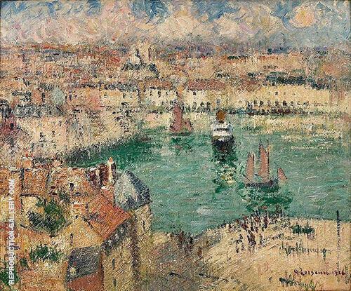 Port de Dieppe By Gustave Loiseau