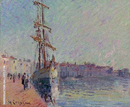 Sailing at Martigues Painting By Gustave Loiseau - Reproduction Gallery