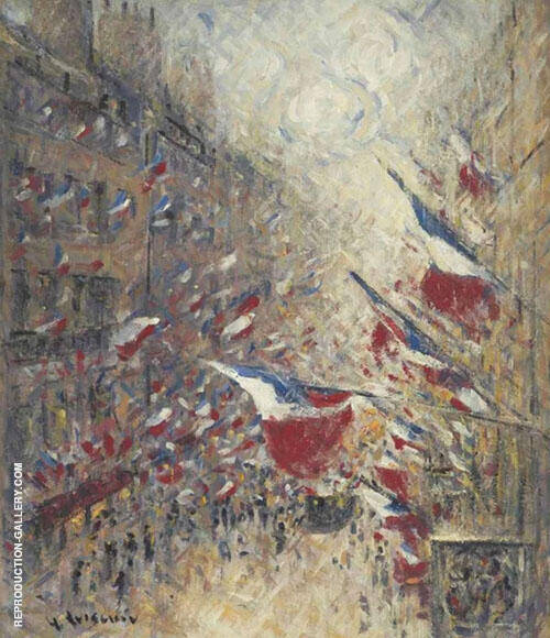 The 14th July in Paris c1925 By Gustave Loiseau