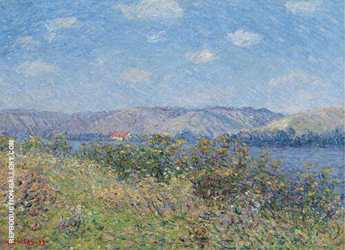 The Banks of The Seine in Summer Tournedos sur Seine By Gustave Loiseau