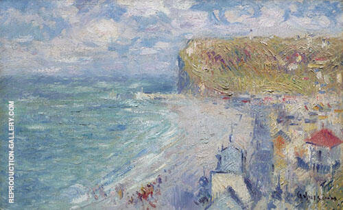 The Beach at FeCamp Painting By Gustave Loiseau - Reproduction Gallery