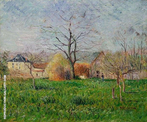 The Prairie at The Edge of The Village Painting By Gustave Loiseau