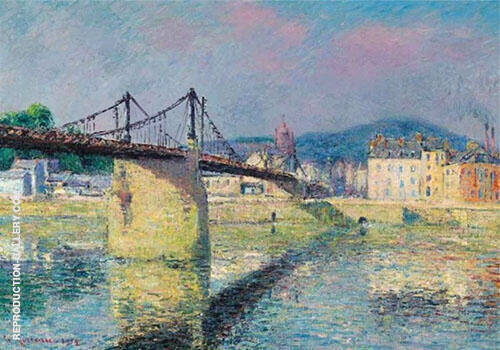 The Suspension Bridge in Elbeuf By Gustave Loiseau