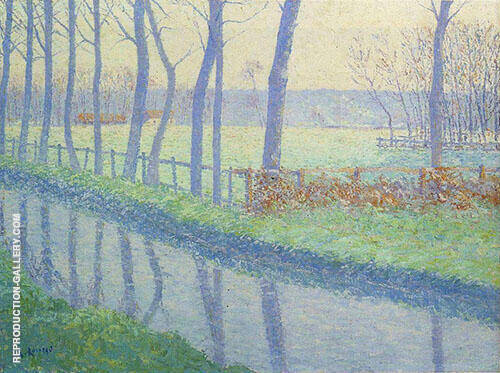 Trees by The River 1891 By Gustave Loiseau
