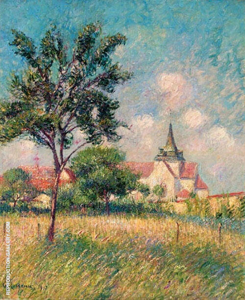 Village Fields Near The Church By Gustave Loiseau