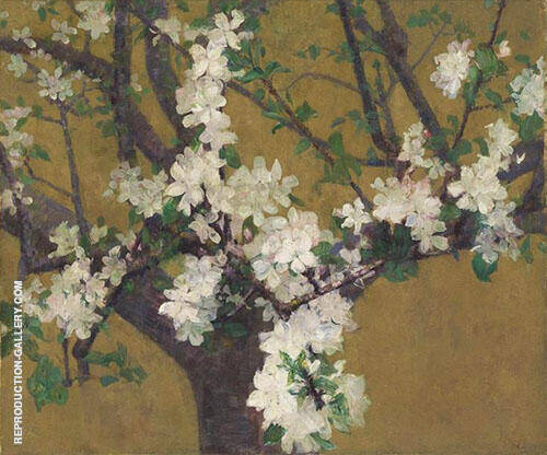 Almond Tree in Blossom c1887 Painting By John Peter Russell