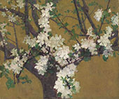 Almond Tree in Blossom c1887 By John Peter Russell